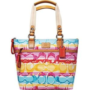 Coach Hampton 11756 Watercolor Scribble Handbag